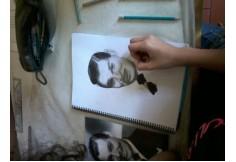 Taller de retratos dibujo alumno del Taller